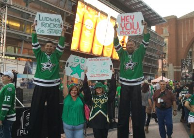 Dallas Stars Game Signs