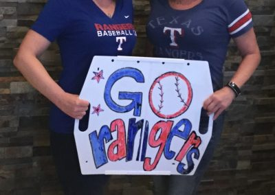 Texas Rangers Stadium Ballpark Sign by Hey You Products