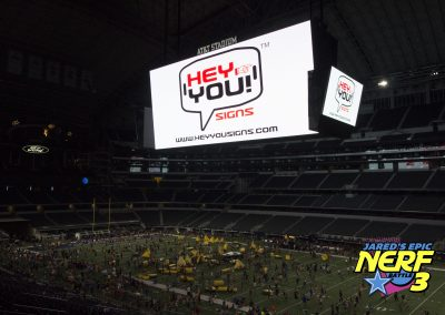 Hey You! Signs featured at the 2018 Nerf Battle in Dallas 2018
