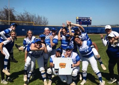 Nolan Catholic Softball Supports Hey You! Signs!